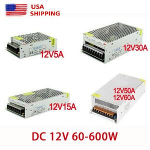 AC 110V TO DC 12V 5A 15A 30A 40A 50A Switch Power Supply Adapter For Strip Light