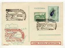 A1155) POLAND GLIDERS 1962 PC Special Postmark
