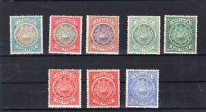 ANTIGUA 1903 - 1917 8 VALUES LMM AS SCAN