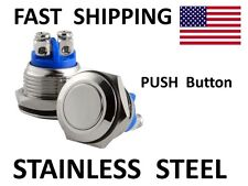 HORN switch - Custom Chopper Bobber PART Polished Stainless Steel Push Button