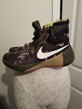 Nike Hyperdunk 2015 PRM Basketball Shoes Camo Olive 749567-313 Men's Size 8