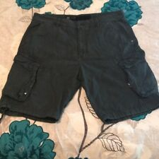 JET LAG Men's black cargo, flat front, shorts SZ 38
