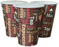 100 X 12oz Disposable Coffee Cups Paper Cups For Hot And Cold Drinks Printed