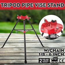 "460 6"" Tripod Pipe Chain Vise Stand 20""x16"" Base Plate fits RIDGID 72037 36273"