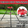 "460 6"" Tripod Pipe Chain Vise Stand 20""x16"" Base Plate fits RIDGID 72037 36273"