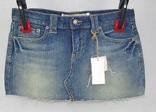 209 Denim Junior's Fringe Denim Mini Skirt Size L