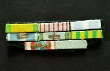 Placard de rappels Médailles Coloniale Indochine Étoile Noire French Ribbons bar