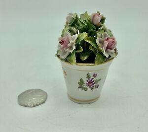 Antique Sitzendorf Porcelain Floral Display circa 1887- 1900