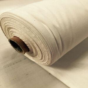 "58"" 100% Cotton (Calico) Plain Natural Oatmeal Colour (25meter Roll) Cotton Fabr"