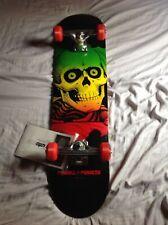 """RARE! Powell Peralta Blacklight Ripper Skull 7.5"""" complete skateboard"""