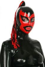 471 Latex Gummi Rubber 2 Ponytails tubes Masks Hoods catsuit customized costume
