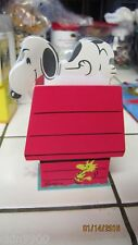 Snoopy Peanuts Memo Pad Holder is Snoopy's Dog House Paper is Snoopy Hallmark
