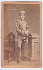 87791 Kabinett Foto Karabinier Borna mit Säbel um 1915