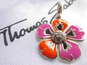 THOMAS SABO **Große Blume** Emaille 925 Sterlingsilber Charm