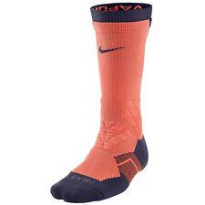 NWT Nike Lava Glow (Salmon) & Purple Vapor 2.0 Football Socks L Large 8-12