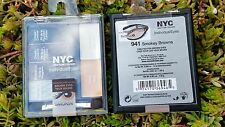 2 NYC INDIVIDUAL EYES EYE SHADOW QUADS W/ PRIMER & ILLUMINATOR 941 SMOKEY BROWNS