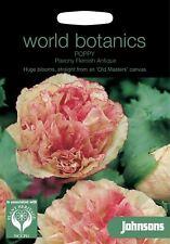 Johnsons World Botanics Flower - Poppy Paeony Flemish Antique - 750 Seeds