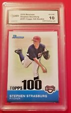 Stephen Strasburg 2010 Bowman TOPPS 100 Rookie RC Gem Mint 10 Nationals!