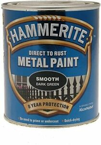 Hammerite Smooth Dark Green Metal Paint 250ml