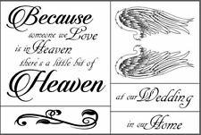 Reusable Adhesive Silkscreen Stencil Because Someone We Love DIY Heaven Angel