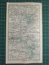 1904 SMALL MAP IRELAND CORK ENVIRONS CITY PLAN STATIONS ~ KILLARNEY LOUGH LEANE