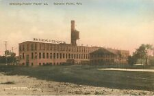 c1930 Hand-Colored Postcard; Whiting-Plover Paper Co. Stevens Point WI Portage