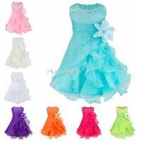 Mädchen Kleinkind Blumenmädchen Kleider Baby Tutu Tütü Hochzeit Taufe Fest Kleid