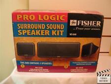 Fisher WS-848 Pro Logic Surround Sound Speaker Kit 3 Speaker System NEW