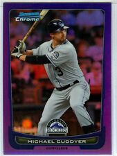 2012 Bowman Chrome Purple Refractor #/199 - MICHAEL CUDDYER [156] - Rockies