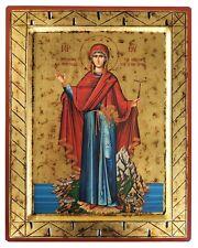 VIRGIN, ABBESS OF MOUNT ATHOS-Greek Byzantine Orthodox Icon