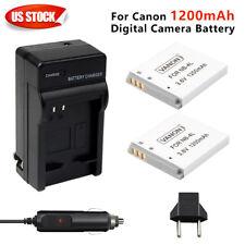 2PACK NB-4L  1200mAh Li-ion Battery + charger For Canon NB4L PowerShot SD30 3.6V