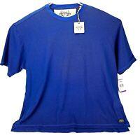 Cabelas Outfitter Series Mens XXL Blue Short Sleeved Shirt T-shirt New Free Ship