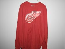 NHL Detroit Red Wings Vintage Thermal Long Sleeve Hockey Shirt New Mens XXL