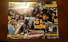 Vintage NHL 1991-92 PITTSBURGH PENGUINS Tram Local Sold Calendar CHAMPIONS