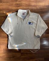 Mickey Mouse Inc Sz XXL Fleece Cream Jacket Embroidered Disney Vintage 1990s Men