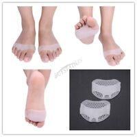 1 Pair Forefoot Cushion Metatarsal Pads Pain Relief Silicone Gel Bunion Protect