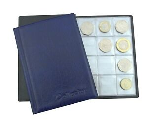 COIN ALBUM for 96 coins perfect for 50p £1 £2 COINS FOLDER BOOK COLLECTOR /N1