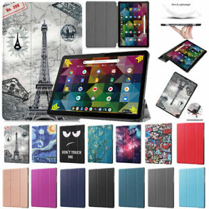 """For Lenovo IdeaPad Chromebook Duet 10.1"""" Tablet Smart Leather Stand Case Cover"""