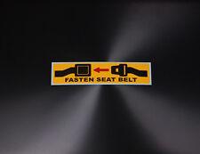 Warning Label Fasten Seat Belt Sign Printed Yellow Black Red Sticker Decal