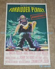 FORBIDDEN PLANET TIN SIGN Robbie the Robot Sci Fi space movie toy poster RETRO