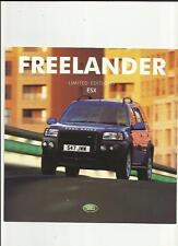 LAND ROVER 5 DOOR, ESX 1.8, V6 AND Td4 LIMITED EDITIONS SALES BROCHURE 2001