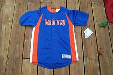New York Mets Youth XL Fits sizes 14/16 button up jersey new with tags.