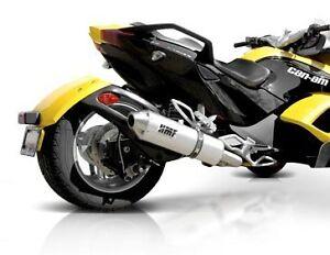 HMF Black Performance Exhaust Pipe Slip-On Muffler Can Am Spyder 08 09 10 11 12