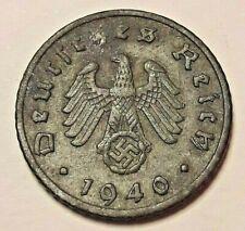 5 Reichspfennig  1940 <<==>> 1942 ADEFGJ KM# 100 III Reich Germany Swastika