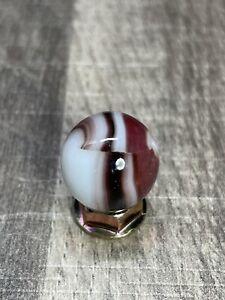 """Marble King Marble Blended Type 1 HTF Ruby Cookies Marble Vintage Marble 0.629"""""""