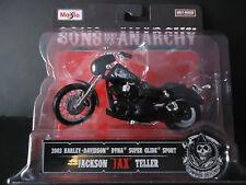 Maisto Harley Davidson Dyna Super Glide Sport 2003 Jax Sons of Anarchy 1/18 New