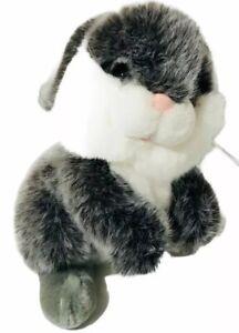 "Fiesta SOFT GREY WHITE BUNNY 12"" Plush Stuffed Animal Easter"