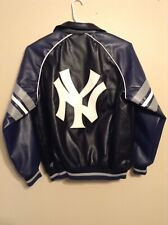 Mens G-III Sports Faux Leather New York Yankees Full Zip Jacket Size Large