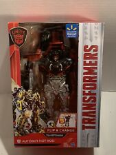 Transformers The Last Knight Autobot Hot Rod Flip & Change Hasbro Exclusive- NIB