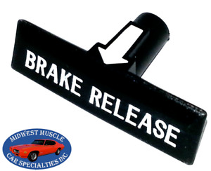 GM Chevelle GTO 442 Impala Dash Emergency Parking Brake Release Pull Handle A